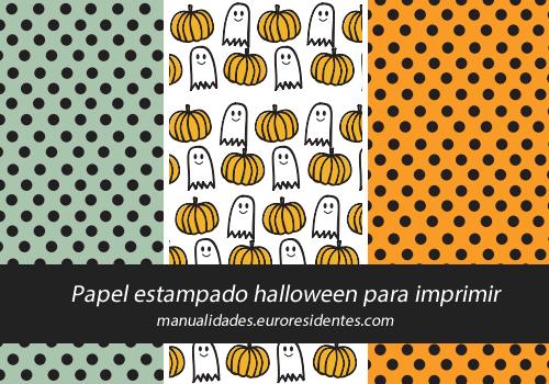 Manualidades papeles decorados de halloween - Decoracion halloween para imprimir ...