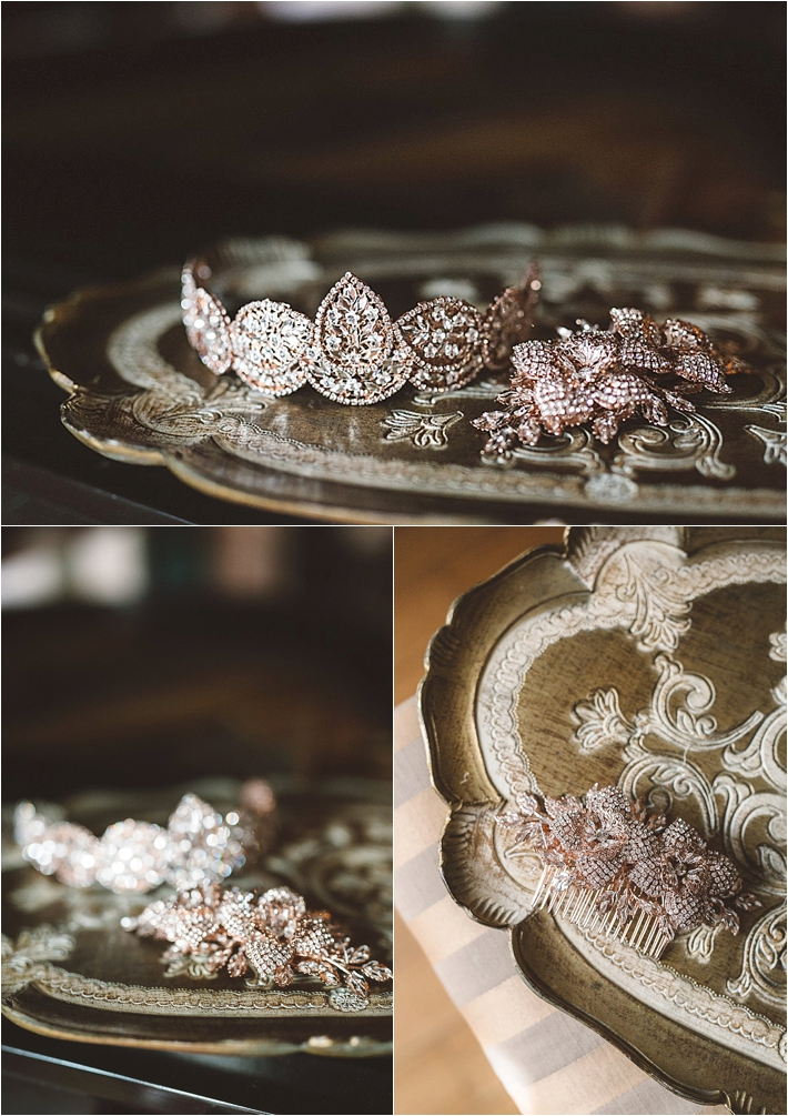 Sparkly bridal jewelry