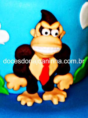 Donkey Kong e Super Mario bolo decorado