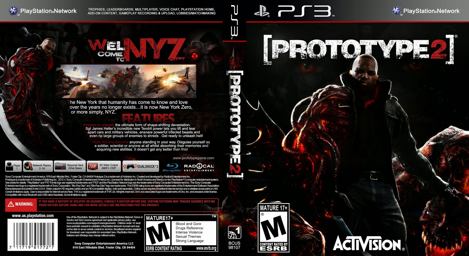 Capa Prototype 2 PS3