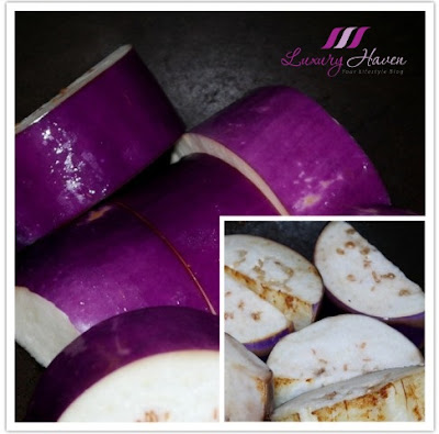 asian cuisine cooking with eggplants brinjal