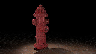 An us american fire hydrant rendered with mentalray