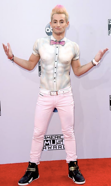 Frankie Grande Wears A Body Paint Shirt at AMAs