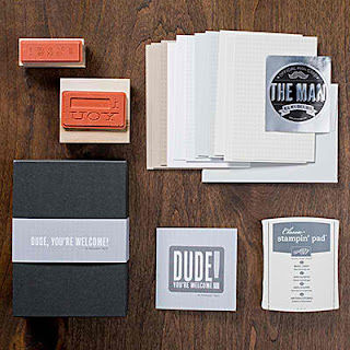 Masculine Card Kit - Stampin'UP!'s new Dude, You're Welcome!