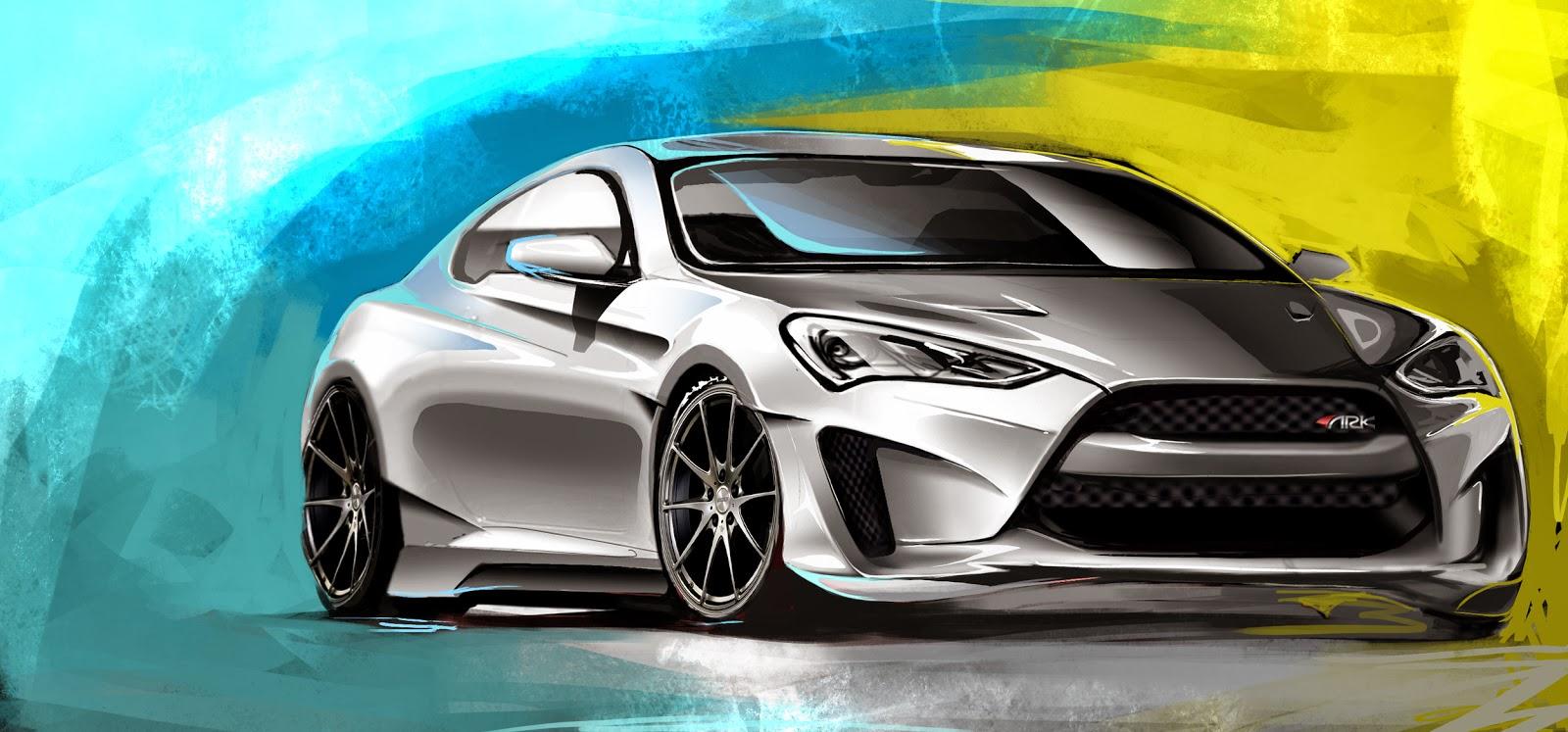 automotiveblogz hyundai genesis coupe ark performance. Black Bedroom Furniture Sets. Home Design Ideas