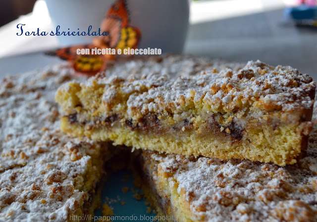 torta sbriciolata con ricotta e cioccolato...easy and speedy!!!!