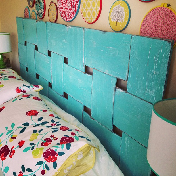 Little bit funky project headboard diy headboard - Tete de lit originale a faire soi meme ...