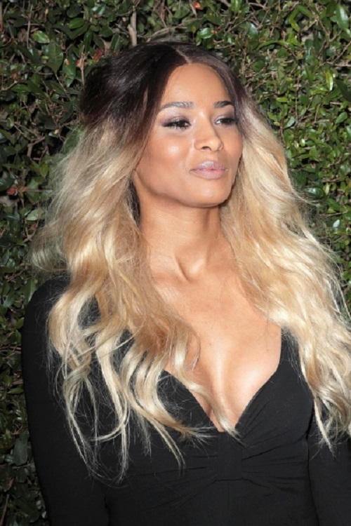 Black Underneath with Blonde Ombre Hairstyles for Black Women