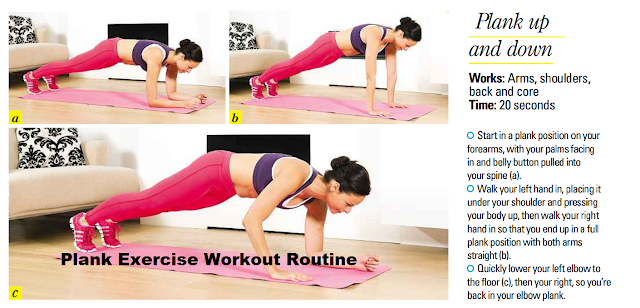 Up Down Plank Exercise