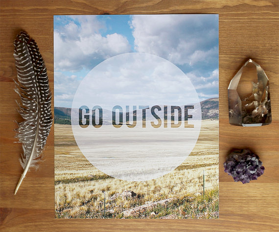 Go Outside Art Print // Bubby and Bean