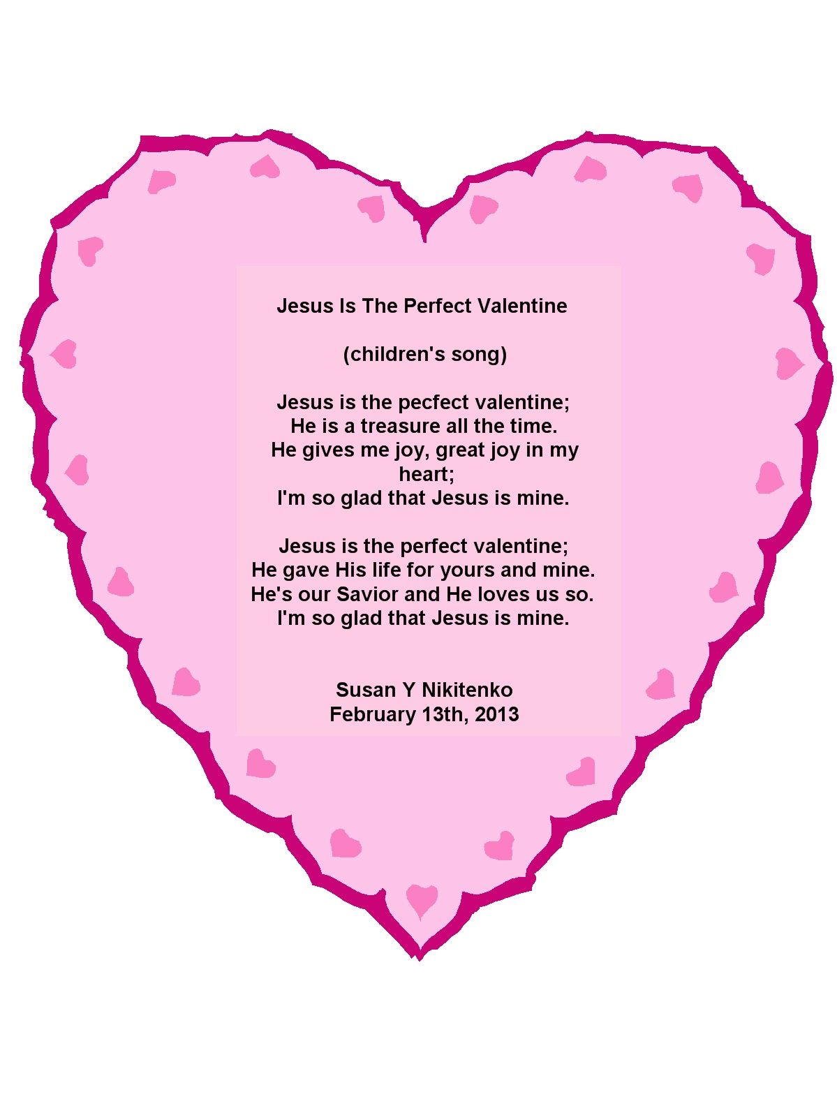 Jesus Is The Perfect Valentine