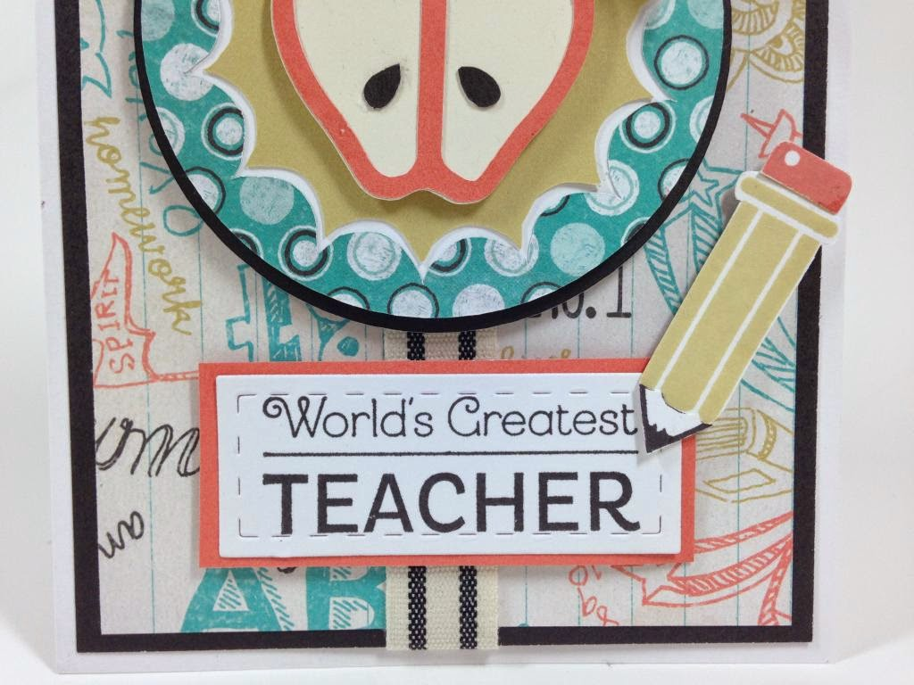 Cricut Artbooking Teacher card closeup