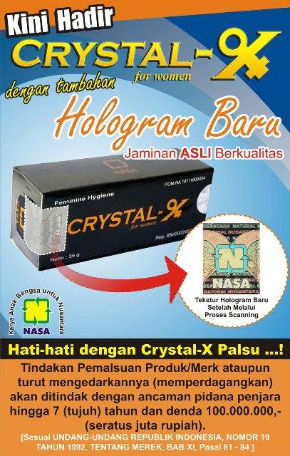 crystal x dengan hologram ganda