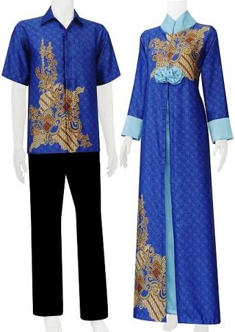 Model Gamis Batik Couple Kaftan Artis