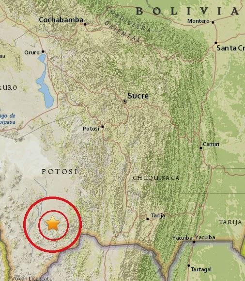 Magnitude 4.6 Earthquake of Atocha, Bolivia 2015-04-19