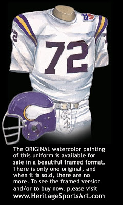 Minnesota Vikings 1969 road uniform