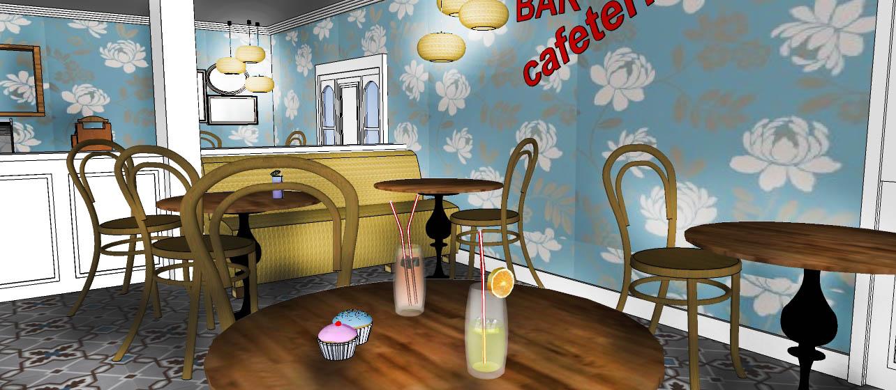 Cafeteria 3d Decoraci N Patri Blanco