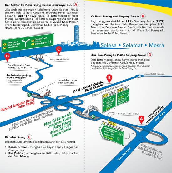 Informasi Jambatan Kedua Pulau Pinang