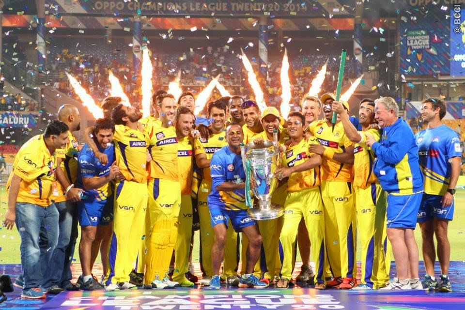 csk wins clt20 2014 celebration photos