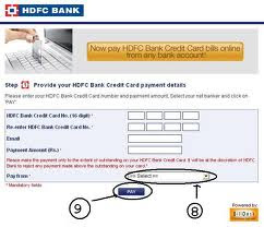 hdfc credit card payment