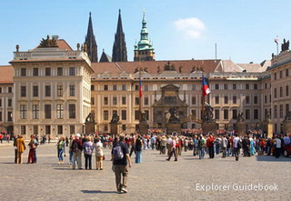 Prague Castle Square Hradcany namesti