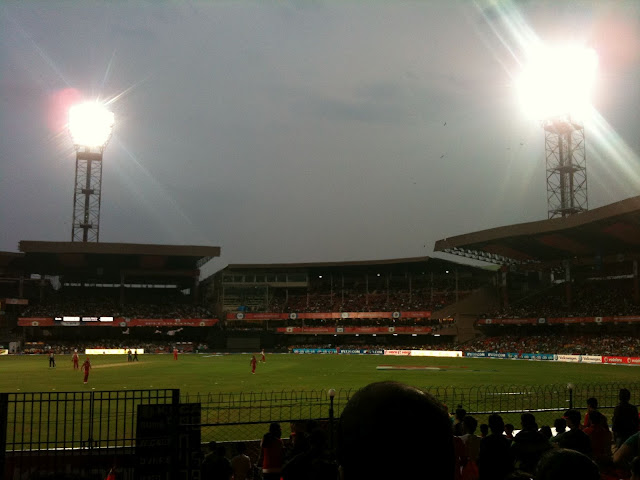 Lights on at chinnaswamy stadium