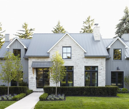The Design Of This Modern Farmhouse Just Goes To Show That A Clean Aesthetic Doesnt Have Be Stark Feel And Urban
