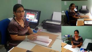 Silvia Cuesta Rodelo al frente de la vigilancia, aseo y servicios en el INEM Cartagena.
