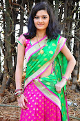 Pujitha sizzling in half saree-thumbnail-16