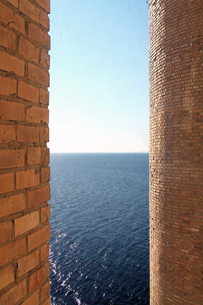 Bricks and ocean view at Institute of Marine Biology Vladivostok Russia