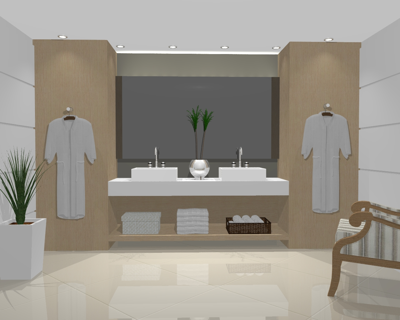 histório do projeto este projeto foi desenvolvido para o showroom de  #65513C 1280x1024 Banheiro Casal Projeto