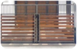 model pagar kayu minimalis