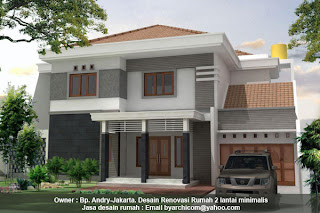 rumah minimalis dua lantai, rumah minimalis batu alam, gambar rumah minimalis