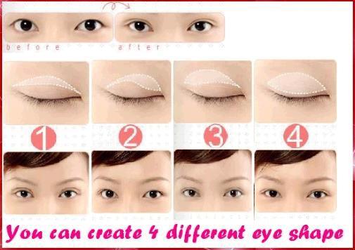 Как сделать веки глаз большими