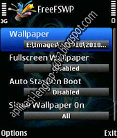 membuat wallpaper fullscreen di hp symbian s60v3 dengan freefswp v1.01