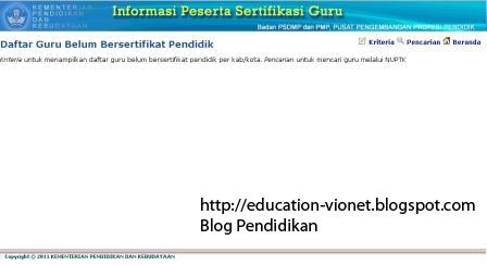 Klik Kriteria di Pojok Kanan Atas akan tampil halaman :