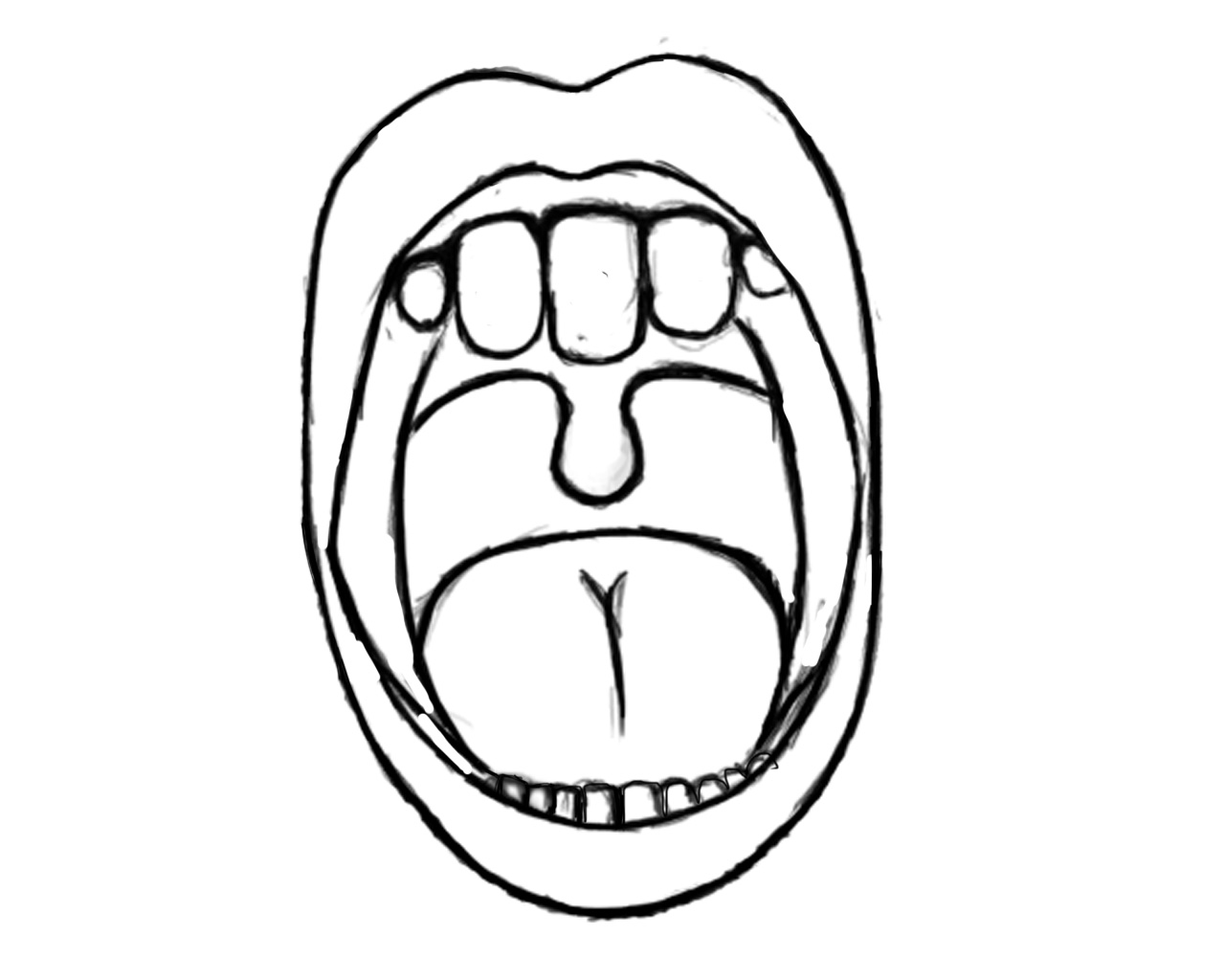Free Lips An Teeth Coloring Pages