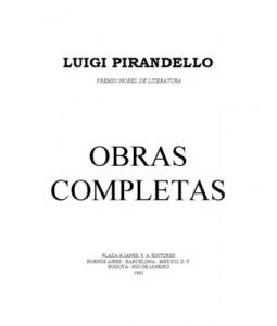 Descarga: Luigi Pirandello - Obras completas