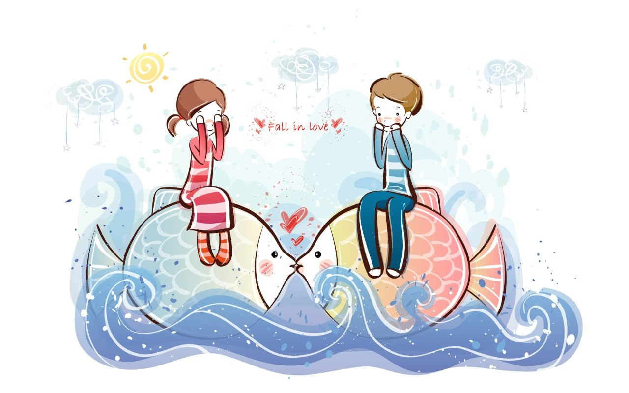 Wallpaper Fall In Love cartoon : cool WallPaper: ???? cute Pictures valentine love 01