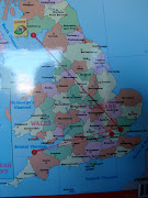 We have been charting on our map the places Flat Stanley has been and .