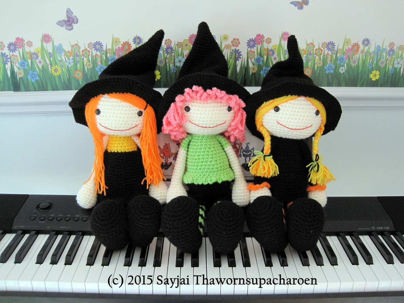 Amigurumi Halloween Free : 3 witches crochet pattern: now available as pdf sayjai amigurumi