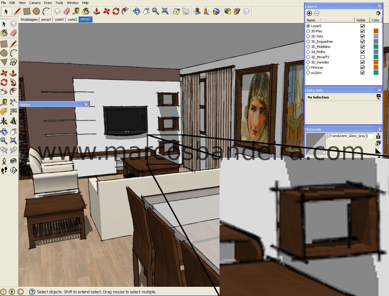 Dica sketchup voc sabe dimensionar imagens for Mobilia para sketchup 8