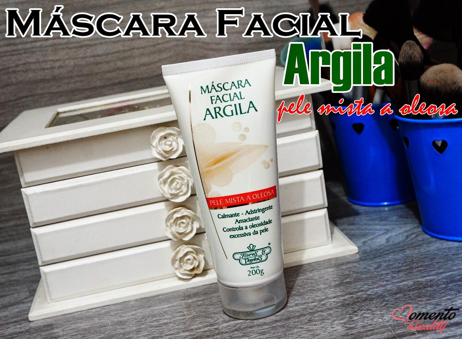 Máscara Facial Argila Flores & Vegetais
