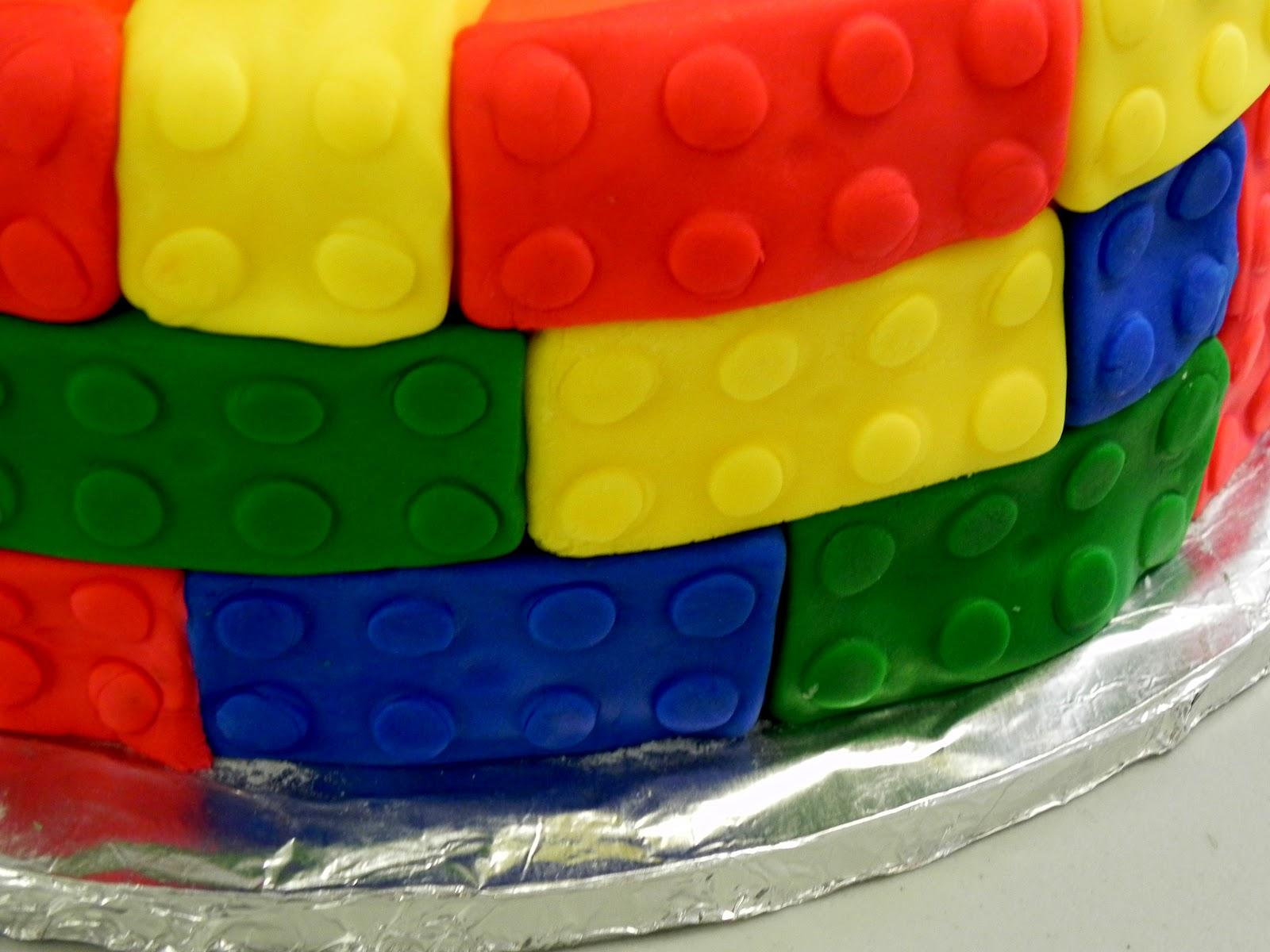 Lego Themed Tiered Birthday Cake