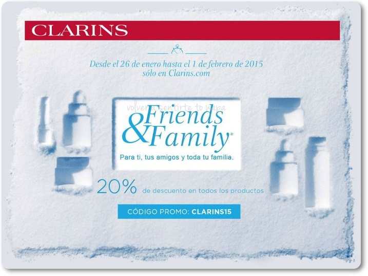 Descuento de Clarins Friends & Family