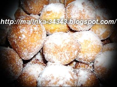 Творожные пончики на соде