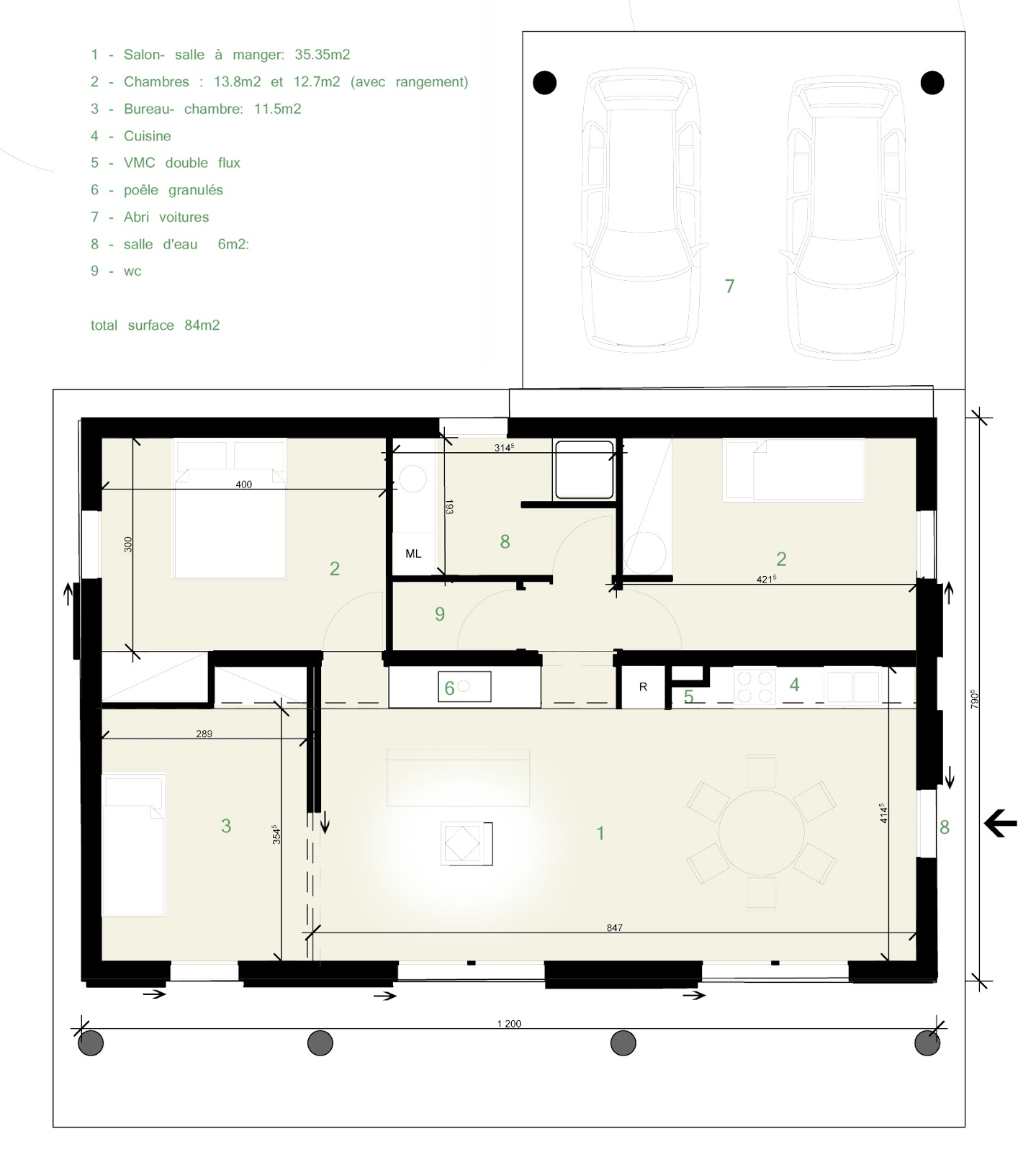 virginie farges architecture cologique corr ze limousin brive limoges maison bois. Black Bedroom Furniture Sets. Home Design Ideas