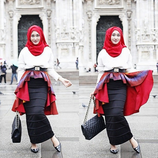 Mini Dress Muslim Kerja Ala Dian Pelangi