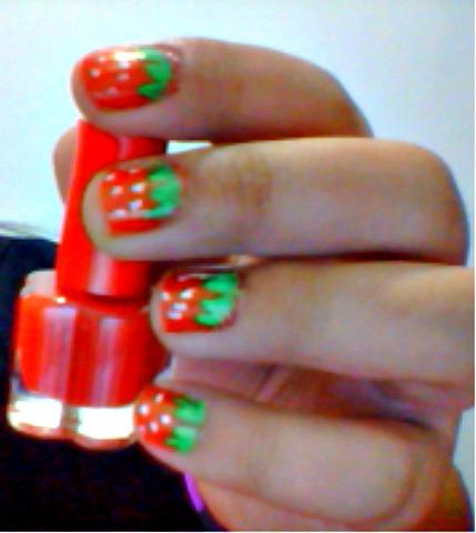 Strawberry X Watermelon Nail Art Tutorial Poetic Isolation