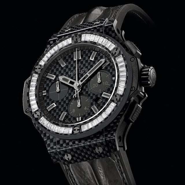 Hublot Big Bang Carbon Bezel Baguette Watch